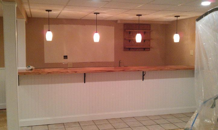 Bar demoltion removing old cabinets counters and tile for Kitchen cabinets quakertown pa