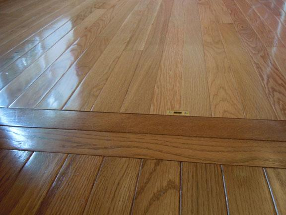 Seamless Flooring Latch For Locking French Doors To New Home Office Space