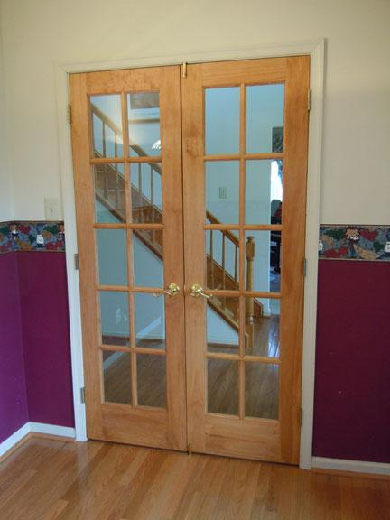 Terrific looking french doors to new home office installed for Looking for french doors
