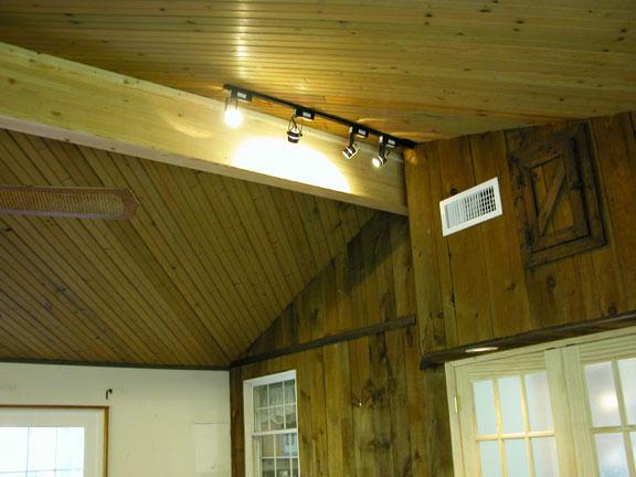 Engineered Beam Design ~ Another view of the engineered structural support beam